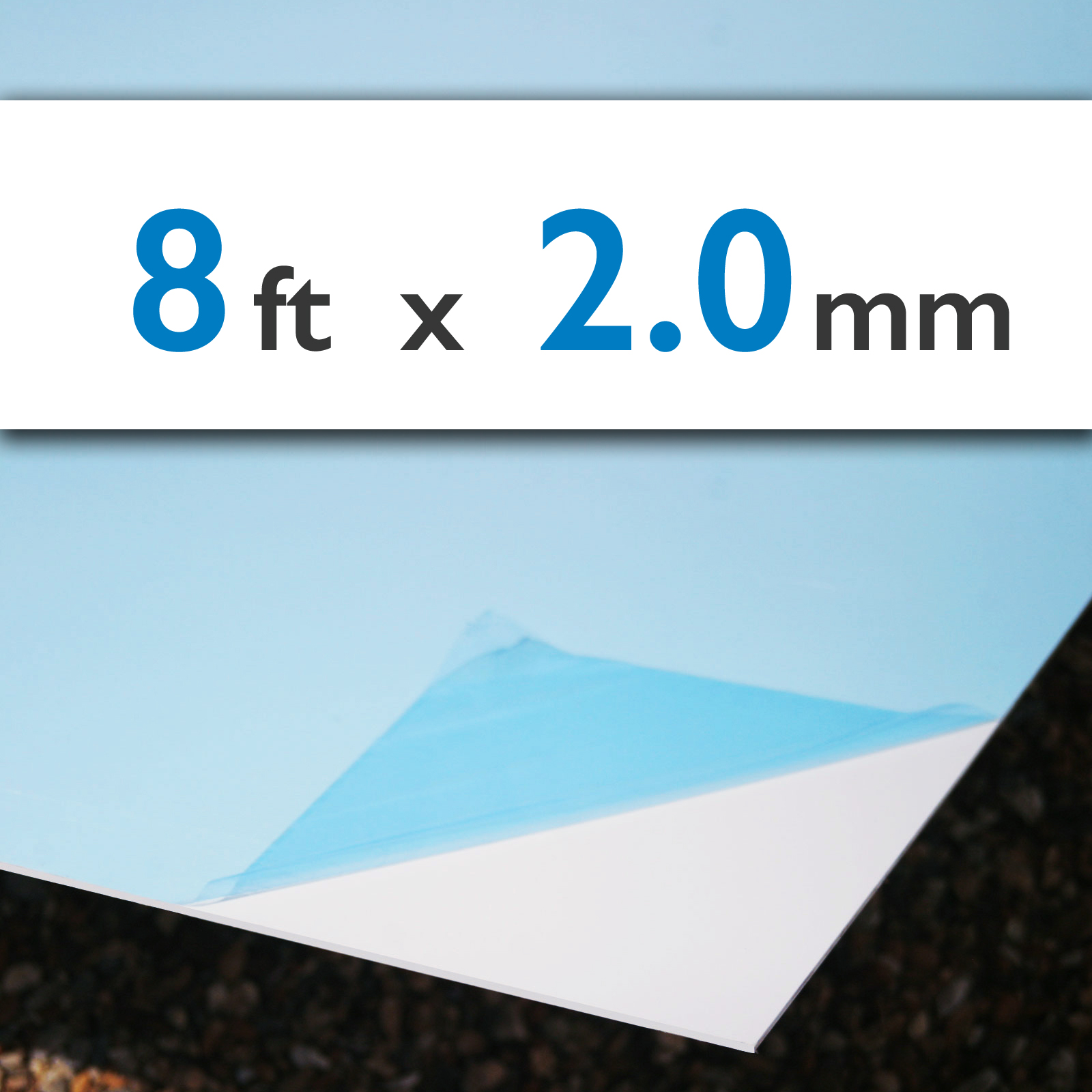 uPVC Cladding Sheet 2.44m x 1.22m x 2.0mm